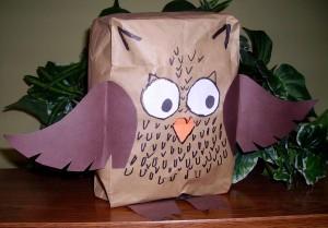 Paper Bag Owl Kids Amp Glitter