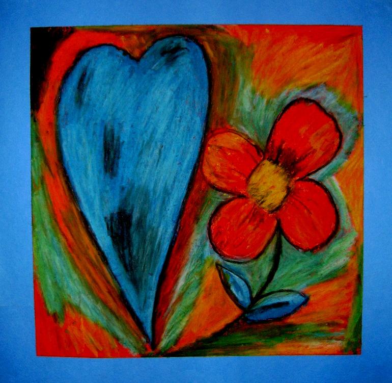 Heart And Flower Kids Glitter