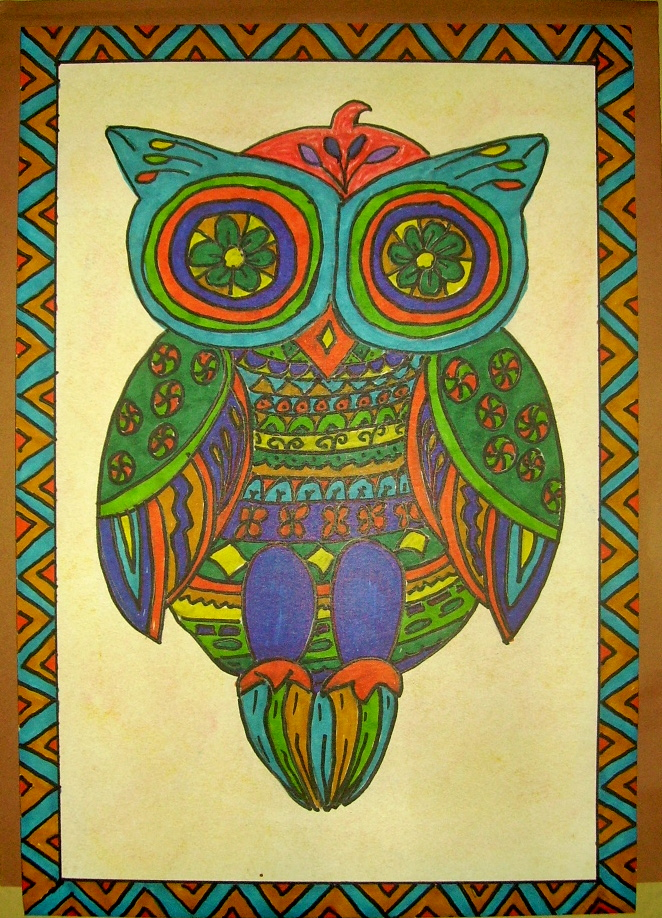 Mexican Folk Art Owl | KIDS & GLITTER