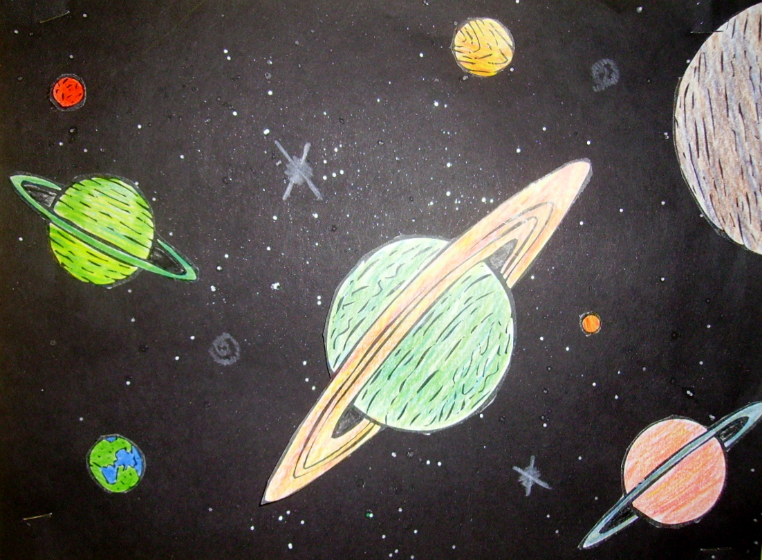 space planets pencil drawing - photo #9