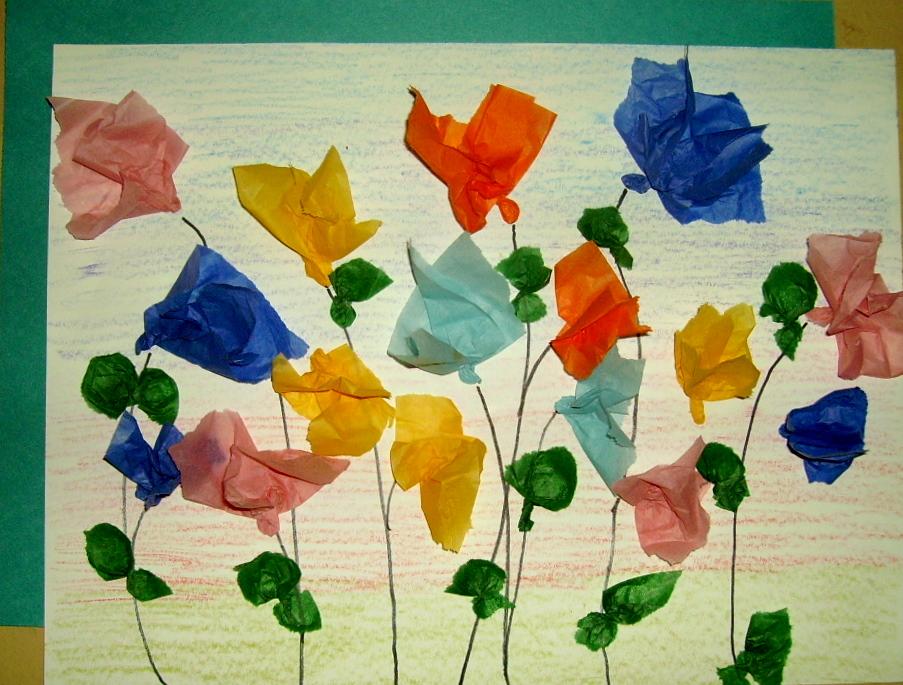 Tissue Flower Collage