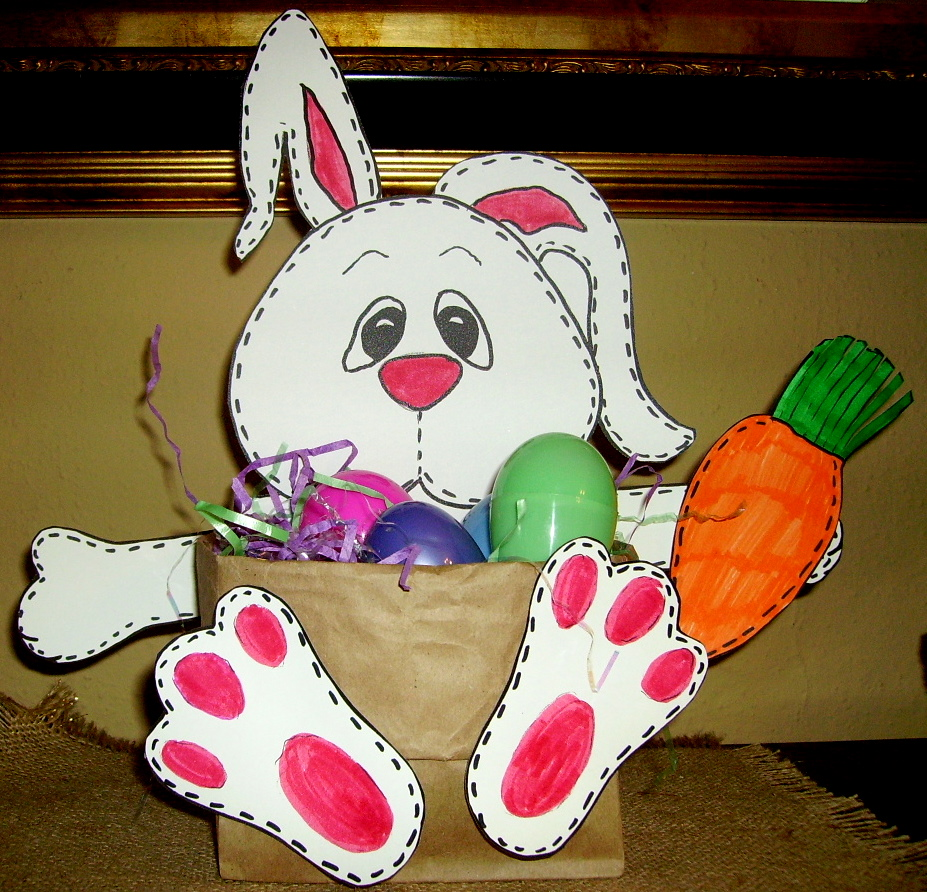 """Stitches, The Bunny"" Basket"
