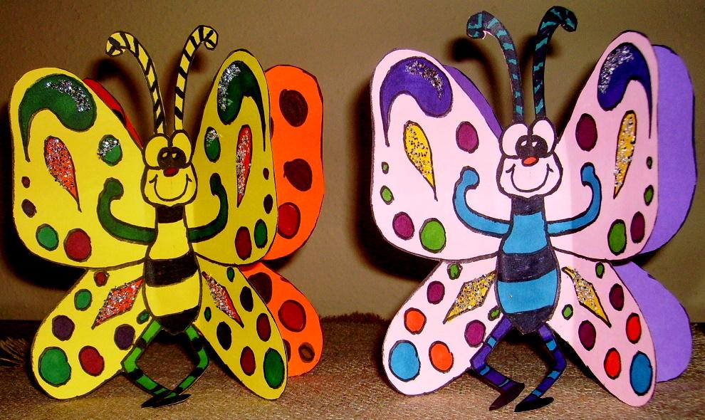 Stand Alone Butterfly Kids Glitter