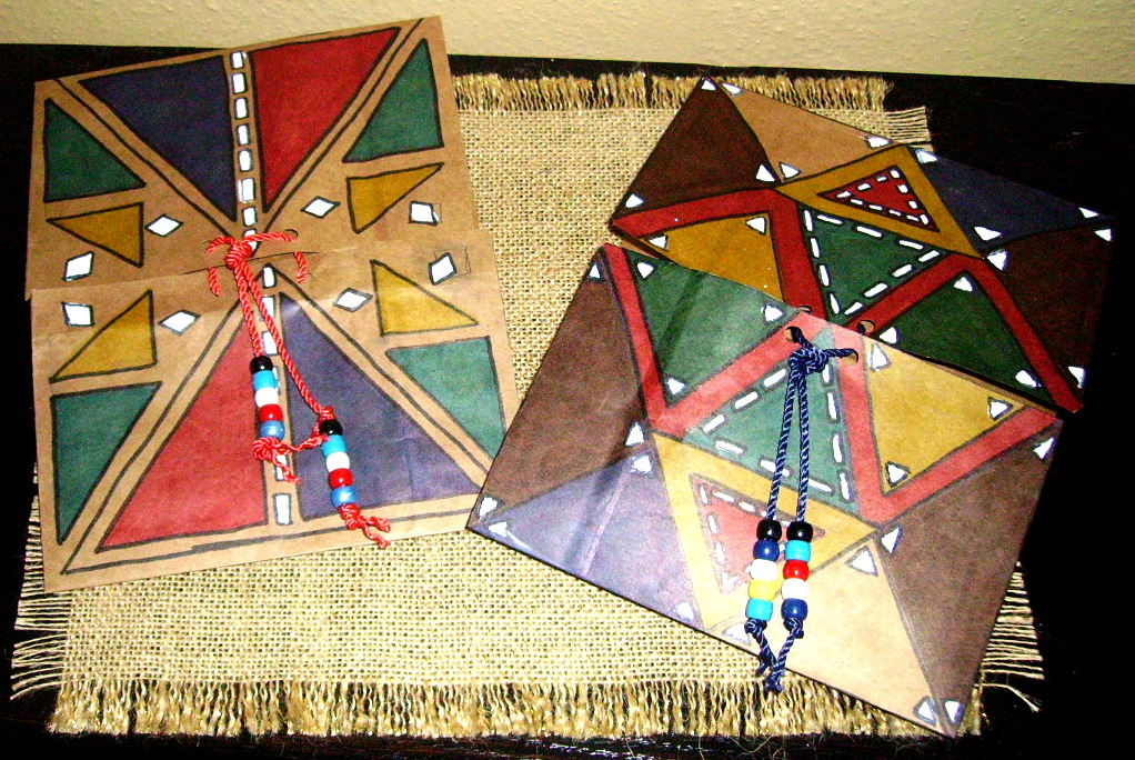 American indian parfleche kids glitter for How to make native american arts and crafts