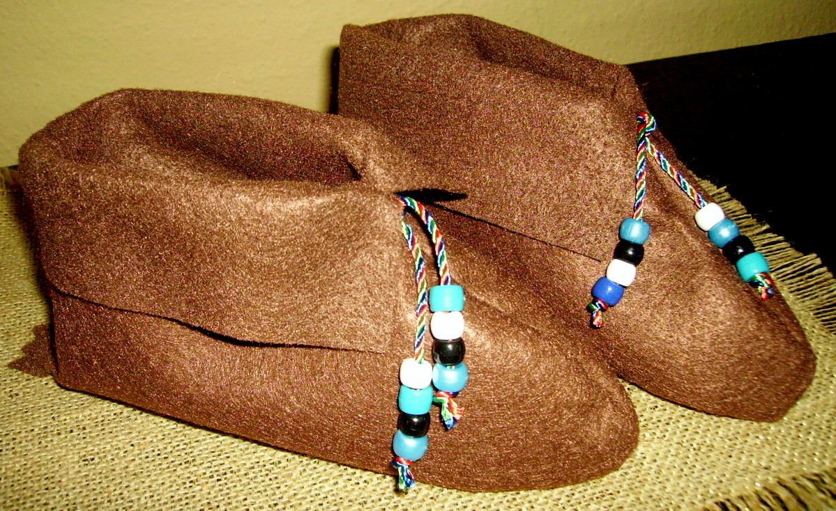 Native american moccasins kids glitter for American indian crafts for kids