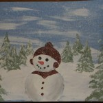 snowman-finished with splatter paint