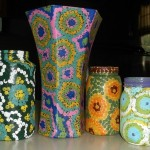 dot painted jars E